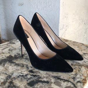 White House Black Market Velvet Heels